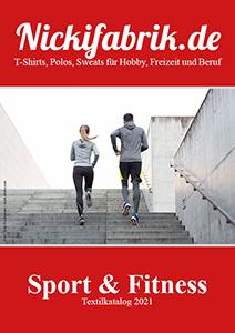 Im Katalog für Sport und Fitnesstextilien finden Sie auch T-Shirts, Polos und Sweats