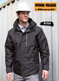 Result Work-Guard Denim Texture Rugged-Jacket